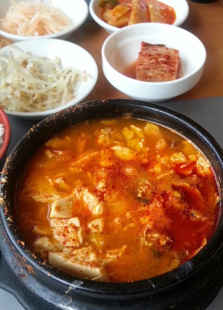 アムステルダムの韓国料理の韓国館のスンドゥブ