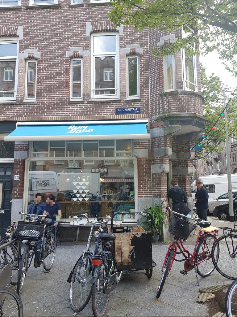 アムステルダムオーストのカフェ RUM BABA