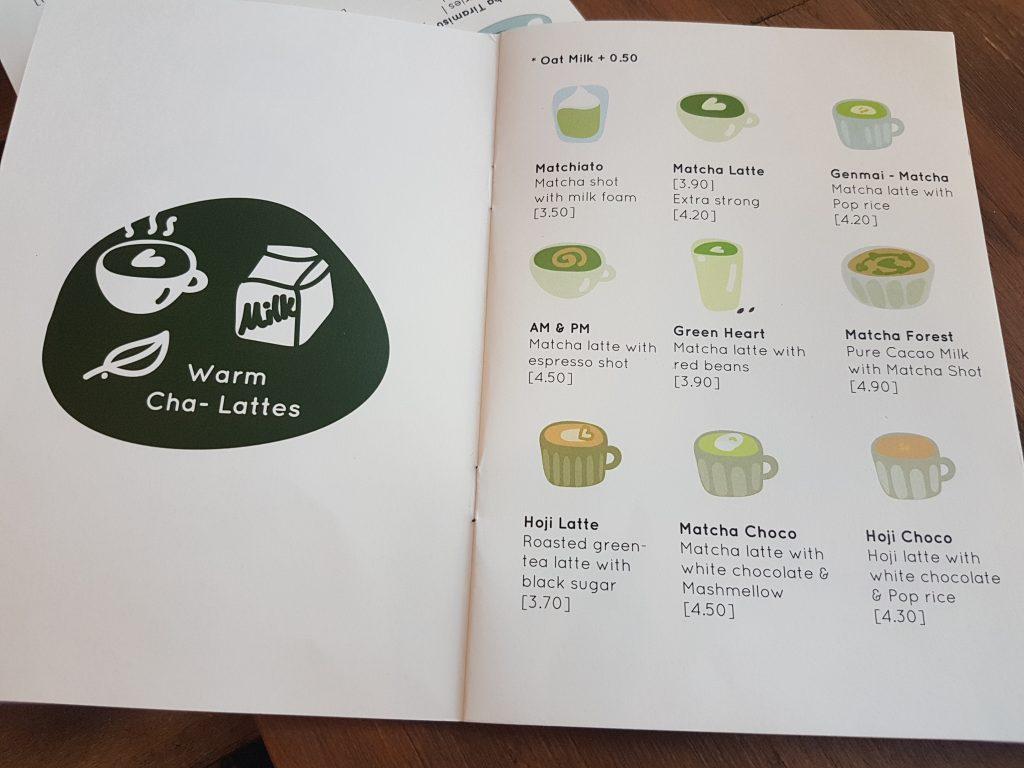 ロッテルダムの抹茶カフェメニュー