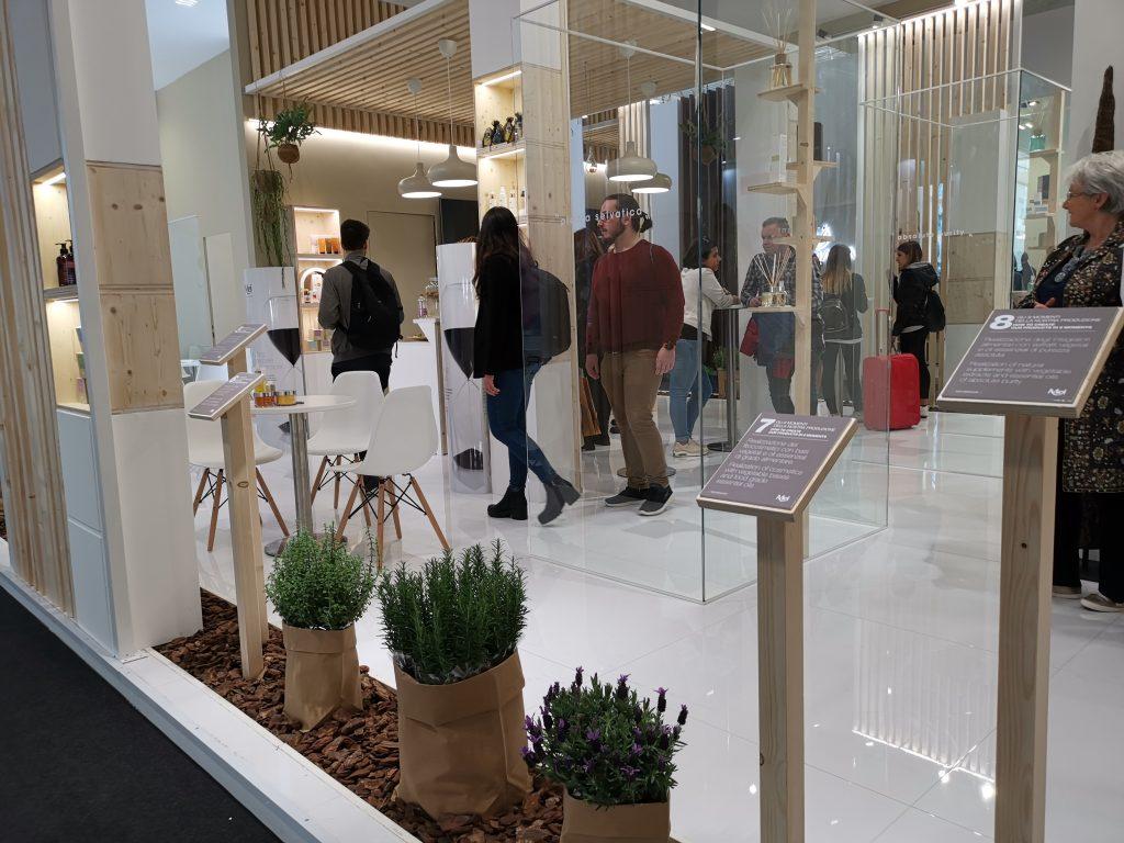 ボローニャの美容イベントエステ展示