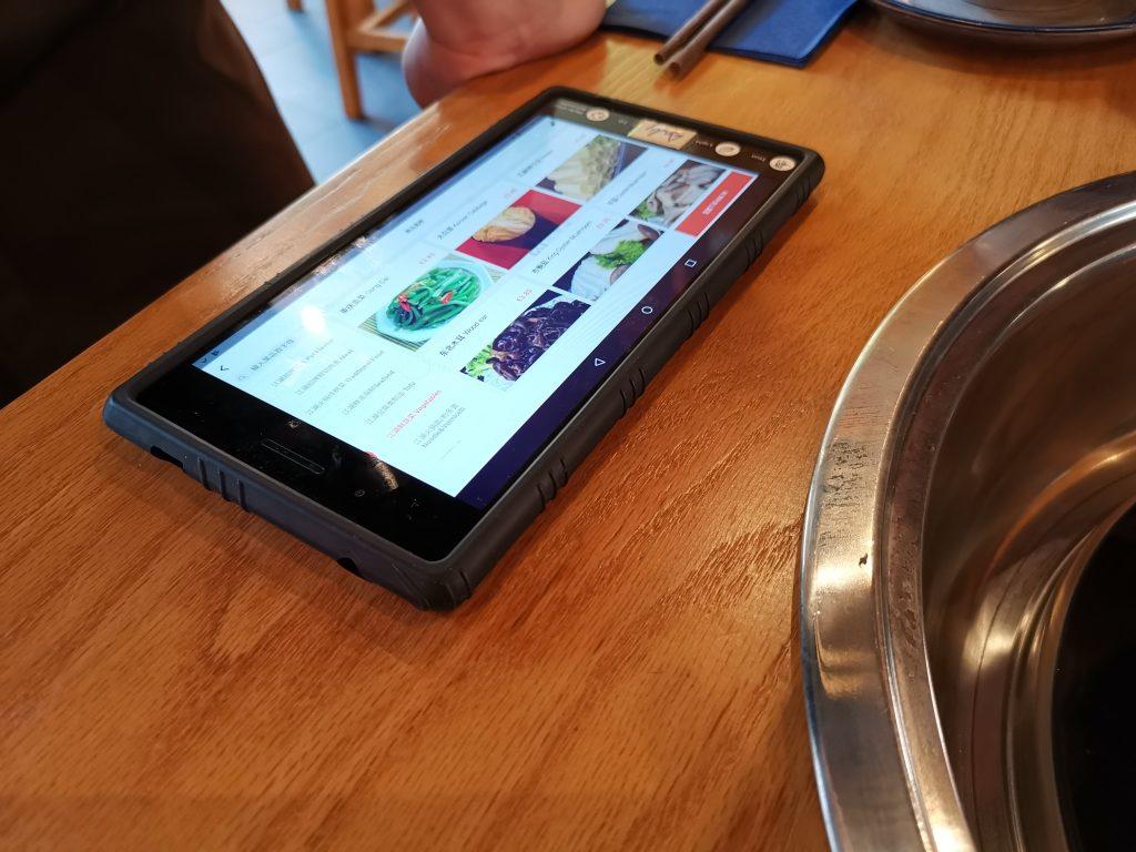 デン・ハーグの中華レストランの発注用タブレット