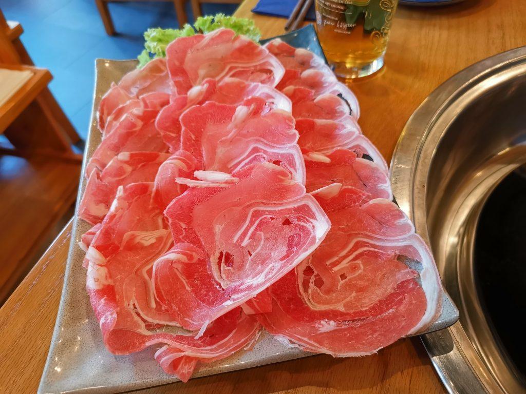 デン・ハーグの重慶火鍋のお肉
