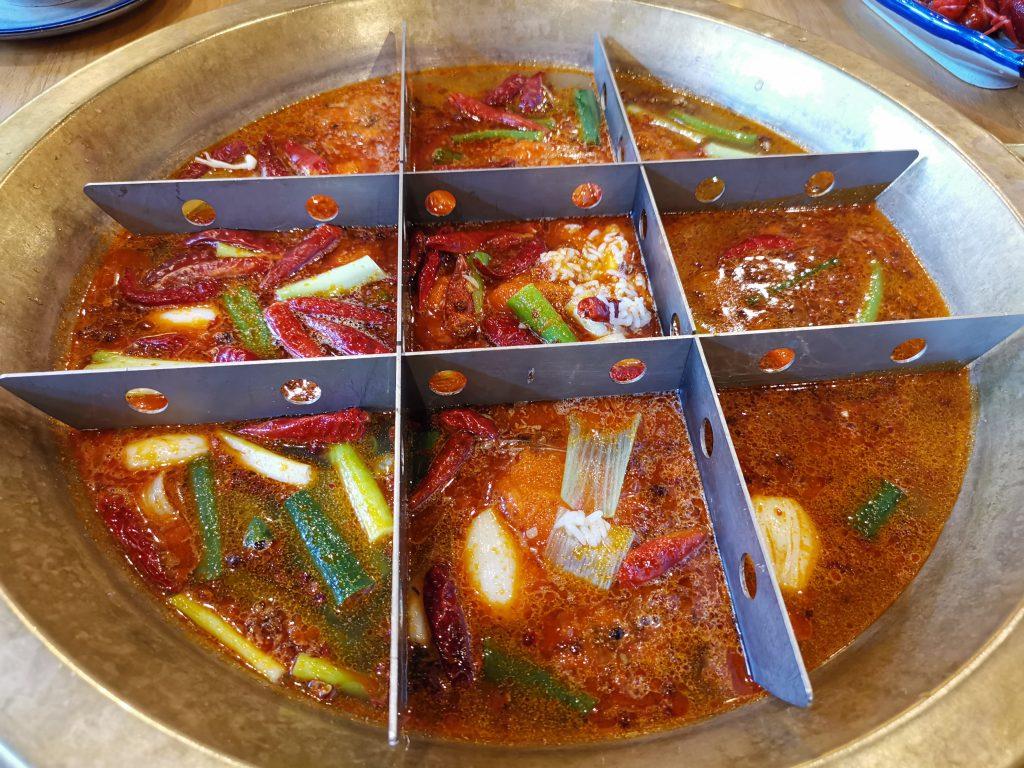 デン・ハーグの中華レストランの重慶火鍋