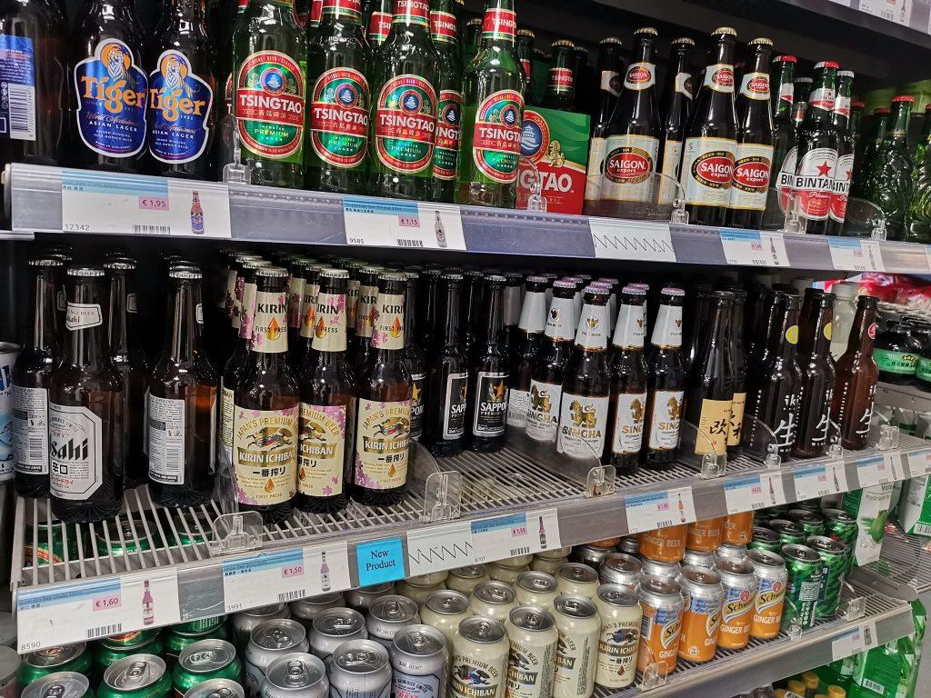 アムステルダムの中華スーパーで日本のビール