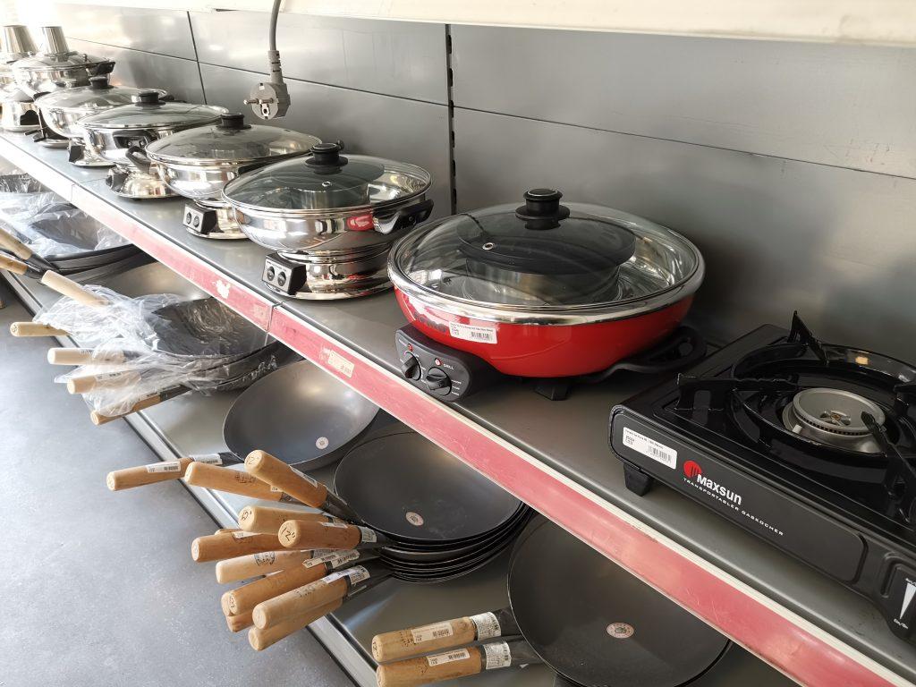アムステルダムの中華スーパーウォック鍋