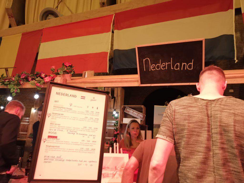 アムステルダムワインフェスティバルでオランダワイン