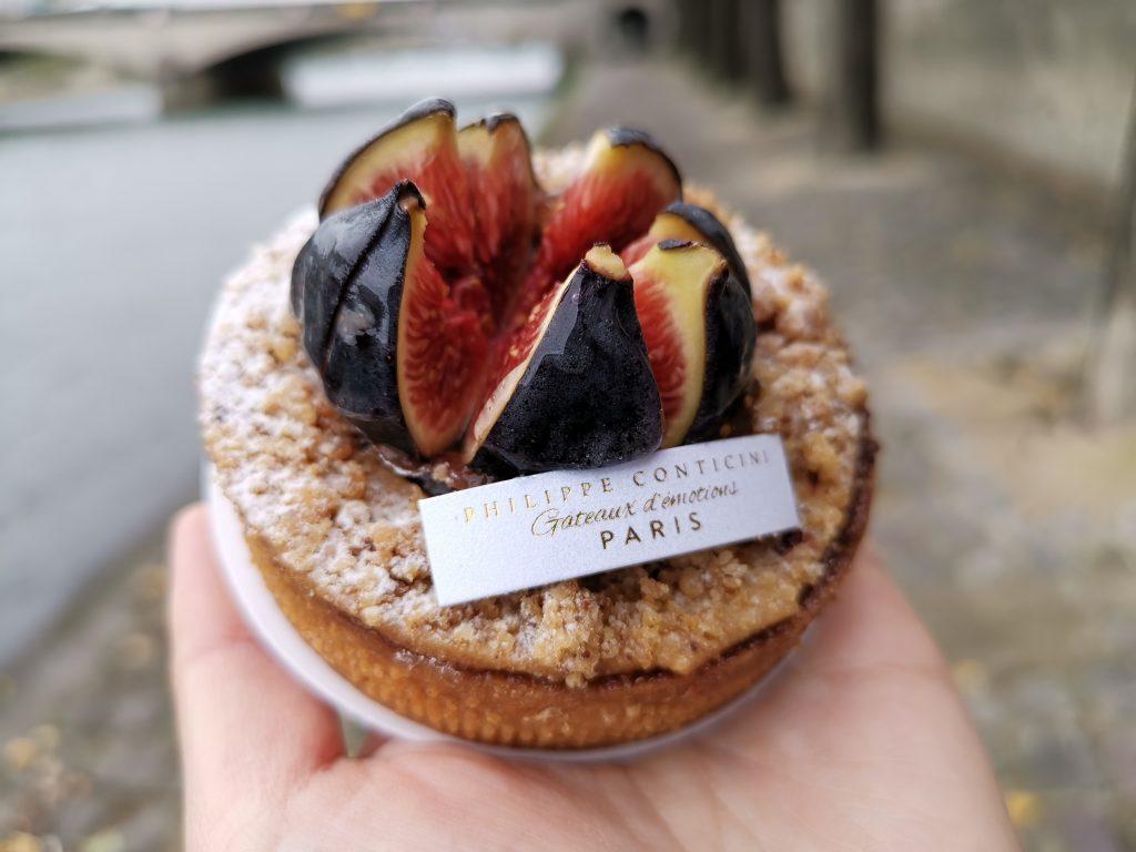 パリの美味しいケーキ屋さんのいちじくタルト