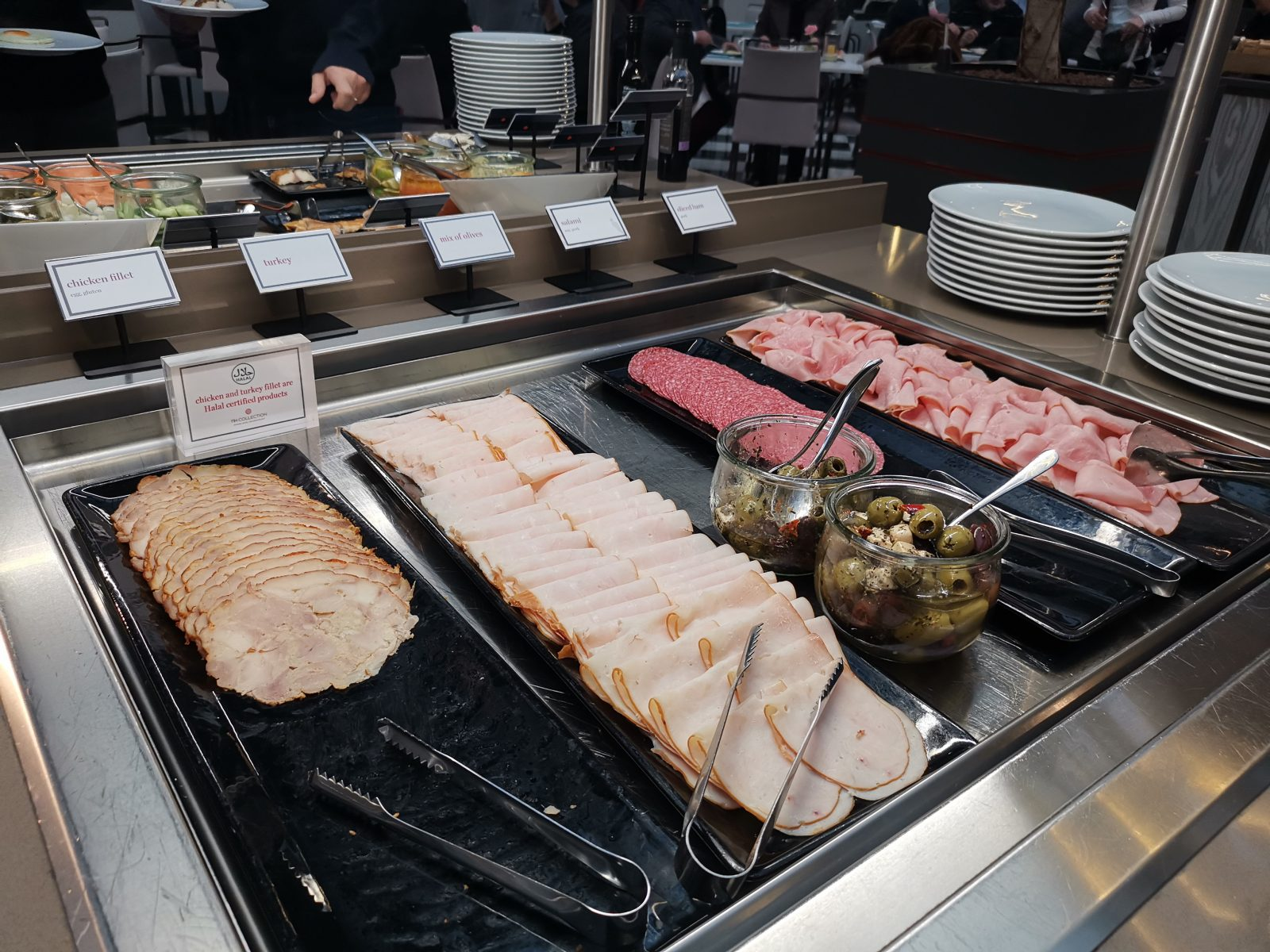 NH コレクション アムステルダム グランド ホテル クラスナポルスキーの朝食(ハム)
