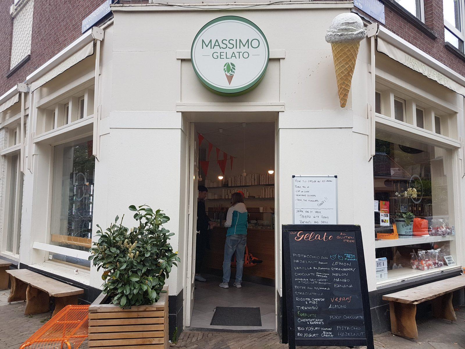 アムステルダムでアイスクリーム