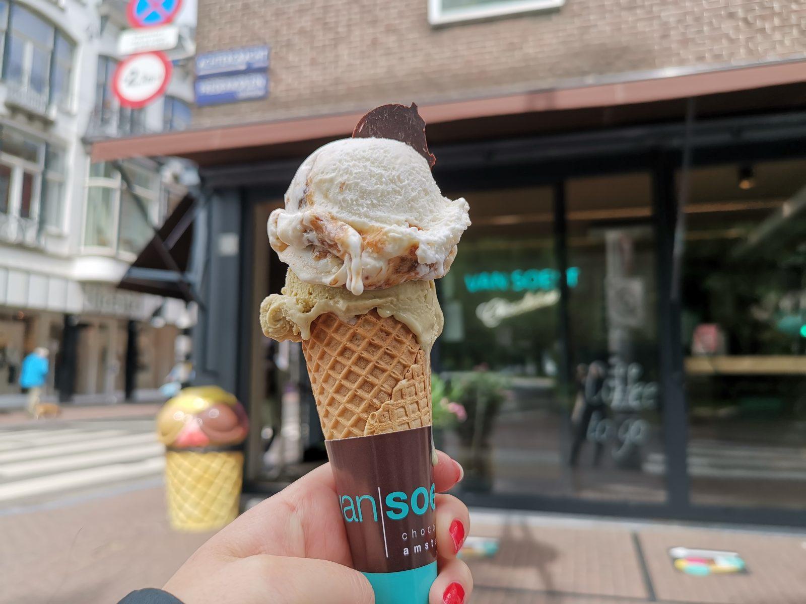 アムステルダムのアイス屋さん