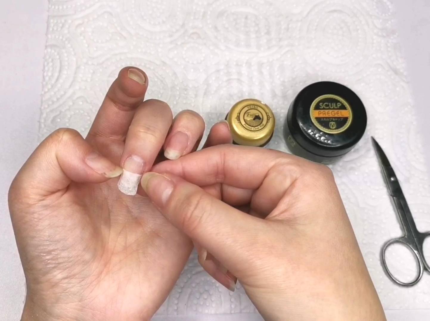 爪とテイッシュのサイズを確認